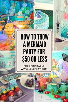 Free-Printable Little Mermaid Birthday Party Calling all mermaids under the sea; I've got a party for you that's as cute as can be! I created this adorable Little Mermaid Set that will be a great addition for your party! Mermaid Theme Birthday, Girls Birthday Party Themes, Little Mermaid Birthday, Little Mermaid Parties, 1st Birthday Girls, 4th Birthday Parties, Birthday Ideas, Mermaid Diy, Free Printable