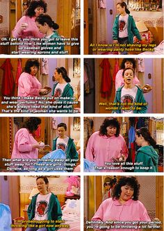 One reason I like Roseanne back in the day --- 18 Funny TV and Movie Screencaps (8.1.14) | Pleated-Jeans.com