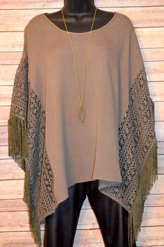 Country Strong Poncho Top from The Charming Arrow Boutique