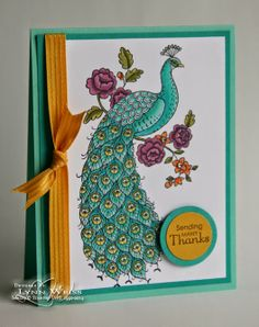 perfect peacock week score at four and a quarter stampinup