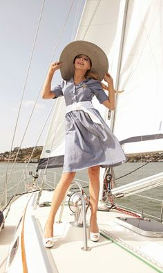 Toe the Line Chambray Shirt Dress
