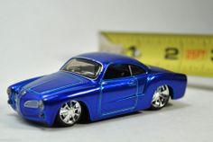 MAISTO ALL STAR 100 1/64 LOOSE - 1966 66 vw VOLKSWAGEN KARMANN GHIA - BLUE #Maisto #Volkswagen