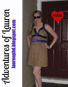 Lauren from Adventures of Lauren made this breathtaking dress for #ChallengeCreate Fabric Swap Edition!
