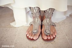 Taupe & metallic hippy sandals. Such a fab shape. I can see these being worn by a boho bride too!!
