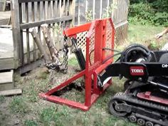 Toro dingo tx 420 with homemade bush remover attachment Tractor Accessories, Tractor Attachments, Utility Trailer, Homemade, Tools, Outdoor Decor, Youtube, Instruments, Home Made