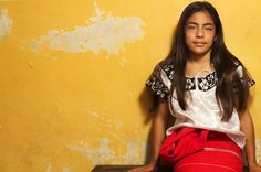 Niña indígena mexicana captada entre Chiapas y Oaxaca 2