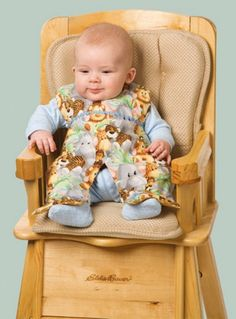Messy eater? Create a DIY full body bib for your little one so the both of you can enjoy feeding time a little more.
