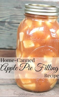 How to can and make this apple pie filling recipe. This apple pie filling is a hand-me-down from our amish neighbors. It's so easy to do! Could there be anything more wonderful than seeing your pantry shelves filling up with home-canned food? Homemade Apple Pie Filling, Homemade Pie, Homemade Apple Juice, Apple Filling, Apple Pie Recipes, Apple Recipes For Canning, Apple Pie In A Jar Recipe, Dutch Recipes, Pickles