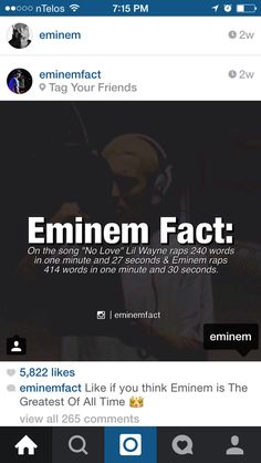 Eminem fact                                                                                                                                                      More