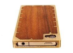 wood + brass iphone case