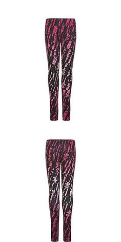 Socks and Tights 153797: Nike Girls, Legacy Cotton Tights, Black Pink, Small