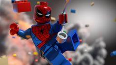 Spiderman's Homemade Costume in 'Lego Marvel Superheroes Lego Spiderman, Lego Marvel Superheroes 2, Spiderman Images, Spiderman Poster, Amazing Spiderman, Avengers Comics, Marvel Art, Marvel Heroes, Xbox 360