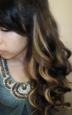 Peek-a-boo highlights. With lighter brown base. want for the wedding! Hair Color And Cut, Haircut And Color, Long Brown Hair, Glam Hair, Hair Dye Colors, Gorgeous Hair, Beautiful, Hair Dos, Hair Hacks