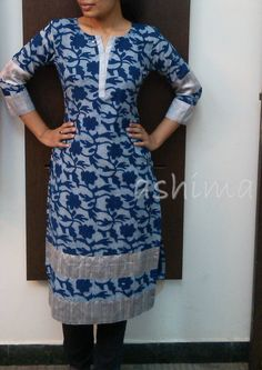 Code:1211152-Block Printed Cotton Kurta Price INR:890/- All sizes available./ Free shipping to all courier destinations in India. Online payment through PayUMoney / PayPal