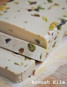 Authentic Halva   :::  basic recipe plus variations, including pistachio...., ,