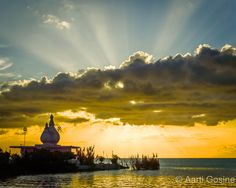 Sunset at the Temple in the Sea