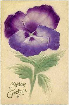 Victorian Birthday Cards