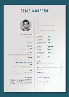 Curriculum Vitae by Fábio Moderno, via Behance Color Gradation Portfolio D'architecture, Portfolio Resume, Portfolio Website, Resume Layout, Resume Design, Resume Ideas, Cv Inspiration, Graphic Design Inspiration, Cv Template