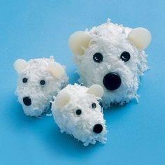 Polar Bear Cubcakes #cupcakes #cupcakeideas #cupcakerecipes #food #yummy #sweet #delicious #cupcake
