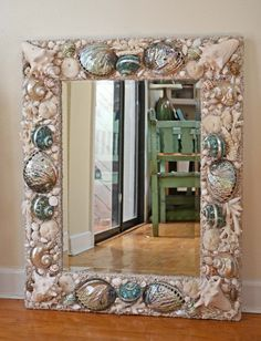 New Mirror $2300.00   29 1/2 x 36  www.elegantshells.net,  Heather Kendall Designs