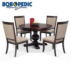 Gatsby Round 5 Piece Dining Set With Side Chairs 7 Piece Dining Set, Dining Room Sets, Dining Room Furniture, Dining Room Table, Outdoor Furniture Sets, Kitchen Sets, Apartment Living, Apartment Ideas, Living Room