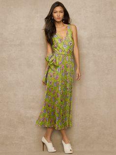 Floral-Print Satin Dress - Maxi Dresses  Dresses - RalphLauren.com