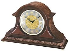 Special Offers Available Click Image Above: Seiko Scrollwork Chiming Wood Mantel Clock - Black Hands - Silver Dial -