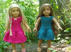 Ravelry: Textured Dress for 18 dolls pattern by Kristina Handley $2.50