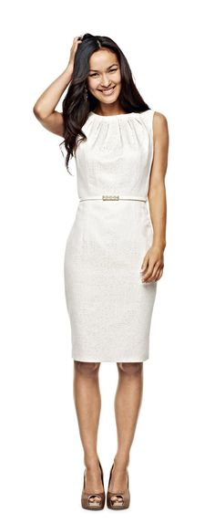 liz clairborne belted jacquard dress