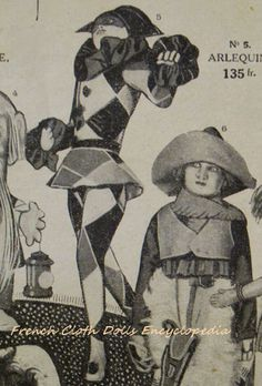 Lenci Arlequin and cowboy, from  Printemps catalogue 1920.