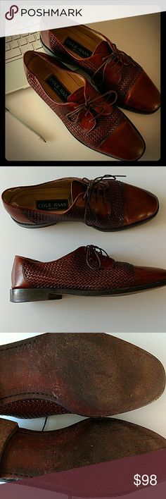 Cole•Haan Mens 9.5 D....made in Italy.. Beautiful Gorgeous Cole Haan men's dress shoes. Chestnut Brown leather and maintained top notch. Size 9.5 D EUC. These are a find!!! Feel free to ask questions. Cole Haan Shoes