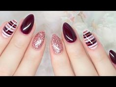 Elegant Fall Nails - http://www.nailtech6.com/elegant-fall-nails/
