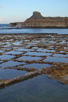 Saltpans in Marsalforn, Gozo