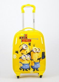 74.00$  Watch now - http://ali5gz.worldwells.pw/go.php?t=32749014818 - 2017 BSO Minions luggage 16-inch Despicable Me child trolley case  universal wheel cartoon suitcase 74.00$