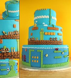 Oldschool Super Mario Bros Level Cake [Pic]