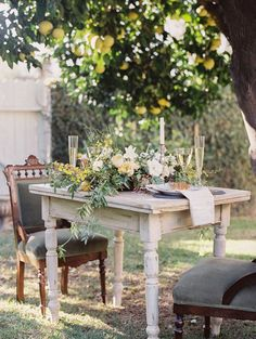 Intimate outdoor rehearsal dinner inspiration