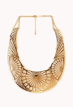 Opulent Filigree Bib   FOREVER21 An outfit is nothing without #Accessories #Necklace #Gold