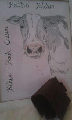 Lehmä taulu/kello