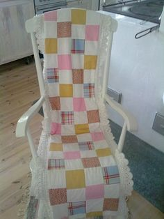 Quilted cover for rocking chair
