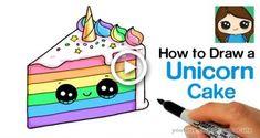 Unicorn easy to draw how to draw a unicorn rainbow cake slice easy and cute unicorn Cute Animal Drawings, Kawaii Drawings, Doodle Drawings, Hair Drawings, Cute Rainbow Unicorn, Cute Unicorn, Unicorn Emoji, Happy Unicorn, Unicorn Cakes