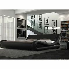 Enzo Italian Modern Designer Double Or King Size Leather Bed + Memory Mattress Contemporary Bedroom Furniture, Bedroom Furniture Design, Garden Furniture, Bedroom Ideas, Cheap Mattress, Bed Mattress, Bed Design, Home Design, Leather Bed Frame