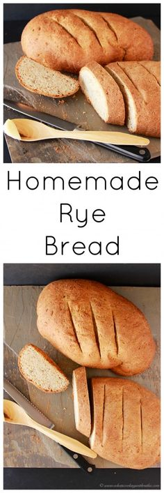 Homemade Rye Bread on www.cookingwithruthie.com has a gentle rye flavor that's easy to make at home!