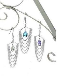 Broke? Make your own chain drop earrings! (*with tutorial*) - JEWELRY AND TRINKETS
