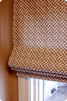 For my family room, doors, kitchen, and laundry room... How to make a Roman shade- a very thorough tutorial (in case I ever get around to it!)