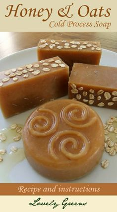 Recipe and instructions for how to make Honey & Oats soap