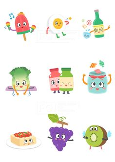 SILL188, 푸드캐릭터, 캐릭터, 푸드, 음식, 요리, 벡터, 에프지아이, 스티커, 아이스크림, 계란, 소주, 술, 알콜, 알코올, 배추, 조미료, 양념, 두부, 포도, 키위, 과일, 사탕, 일러스트, illust, illustration #유토이미지 #프리진 #utoimage #freegine 19815583