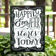 Gems Wedding Supplies - Happily Ever After Starts Today Wedding Decoration Sign, $59.95 (http://www.gemsweddingsupplies.com.au/happily-ever-after-starts-today-wedding-decoration-sign/)