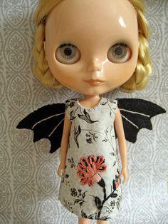 Black Rose Blythe Dress from littledear on Etsy