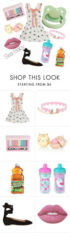 """""""Sea Baby"""" by little-liv on Polyvore featuring Forever 21, Pop Beauty, The First Years and Valentino"""