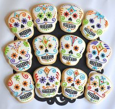 Ive designed these creepy but cute Day of the Dead sugar skull cookies, for your…